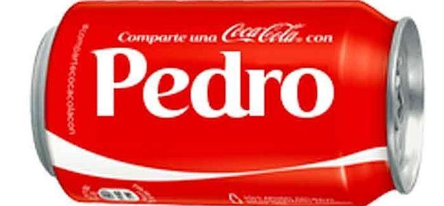 Lata de Coca cola con nombre