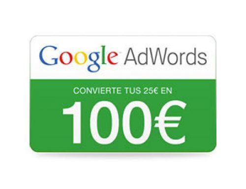 Códigos promocionales para Google AdWords