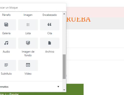 Gutenberg, el nuevo editor de serie de WordPress